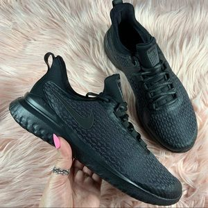 New Nike Women's Renew Rival All-Black Sneakers